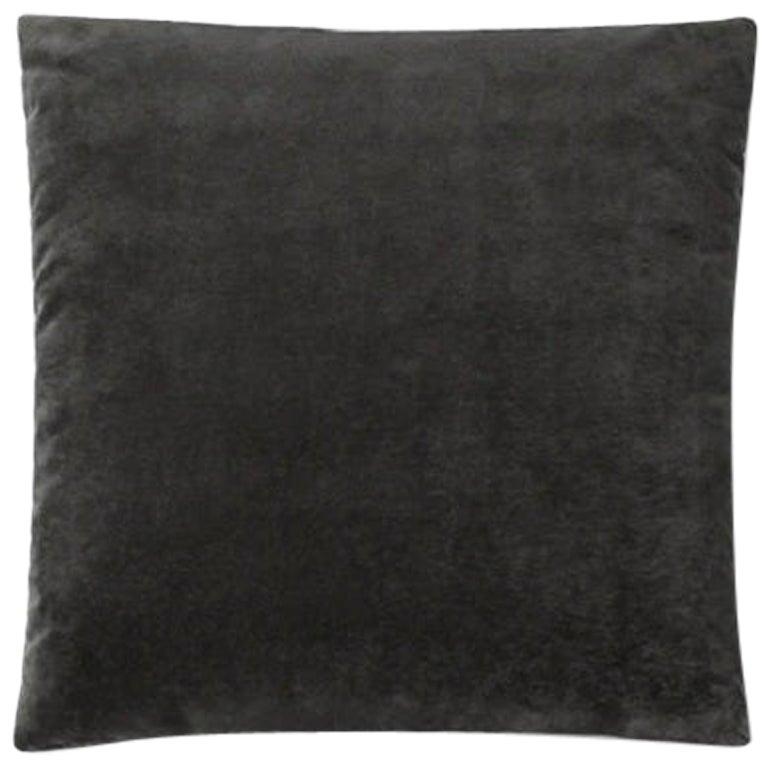 Molteni&C Square Decorative Cushion Black Velvet