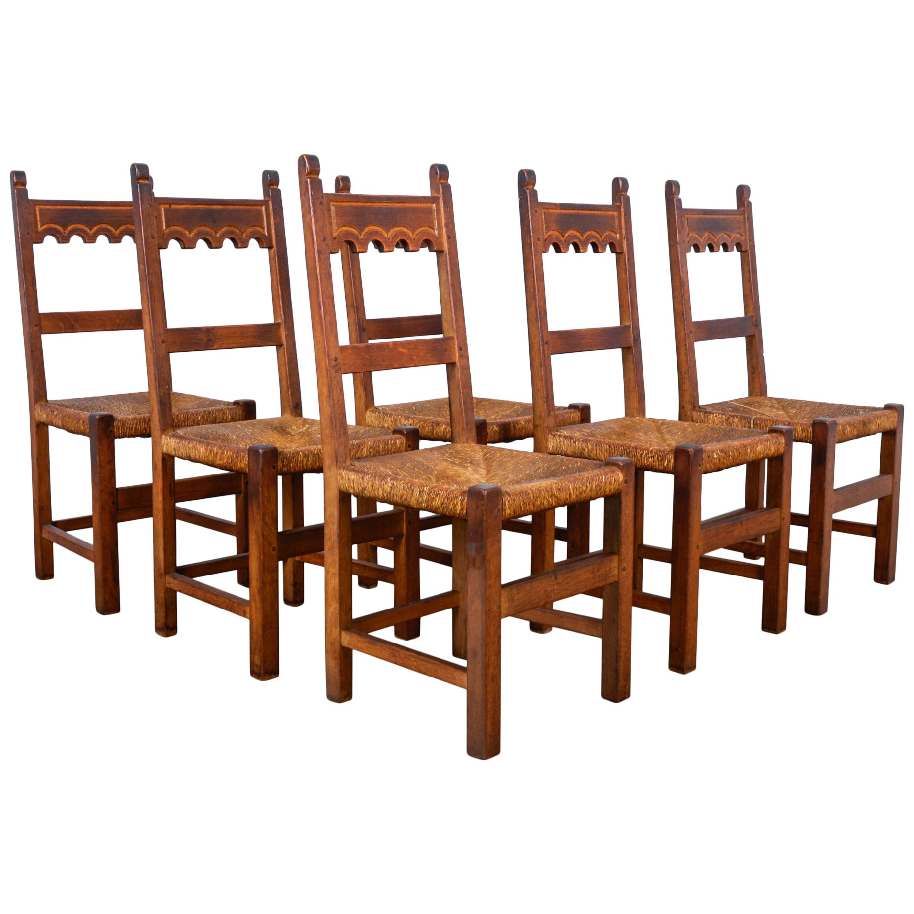 1970s Belgian Dining Chairs, Set of Six