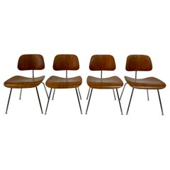 Rare Early Set of Charles and Ray Eames for Herman Miller Chairs in Zebrawood