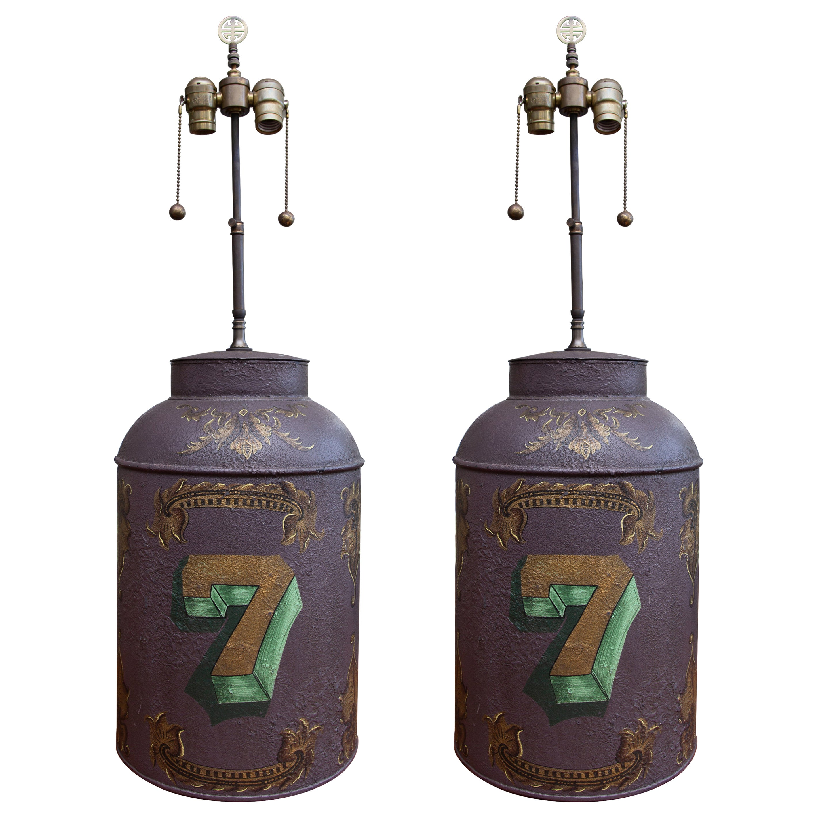 Pair of Tea Cannisters as Table Lamps