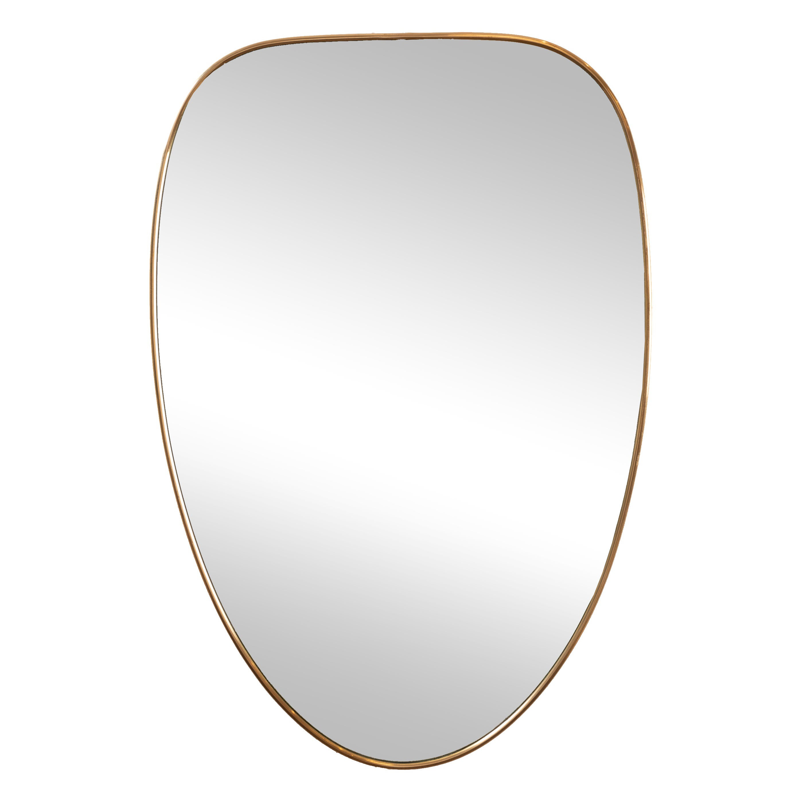 Brass Framed Mirror in the Style of Gio Ponti, Italy, 1950's