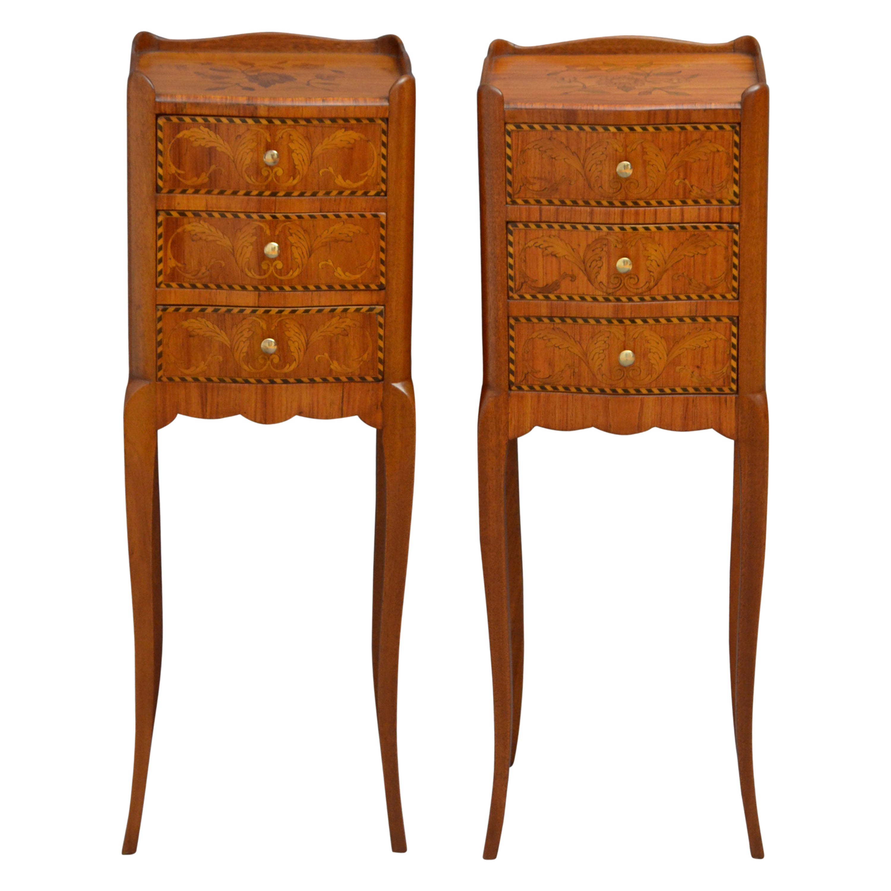 Slim Pair of Bedside Cabinets