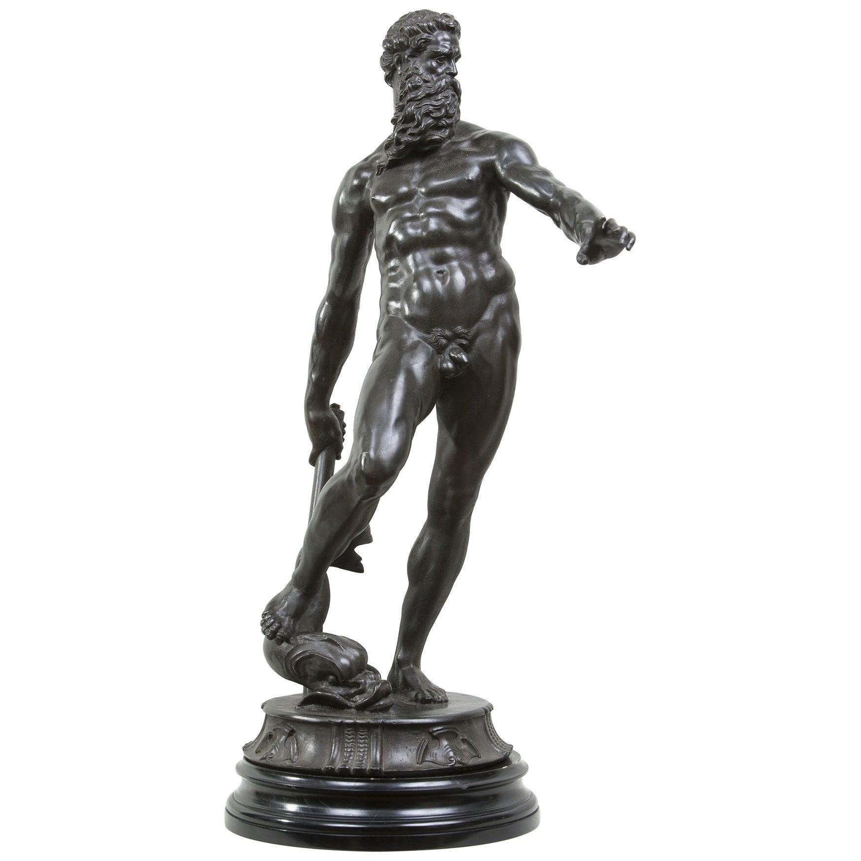 Bronze Figure of Neptune, after Giambologna