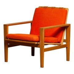 1960s Scandinavian Lounge Easy Chair in Oak / Leather by Erik Merthen for Ire.2