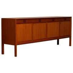 1950 Teak Sideboard Credenzas Designed by Bertil Fridhagen for Bodafors, Sweden
