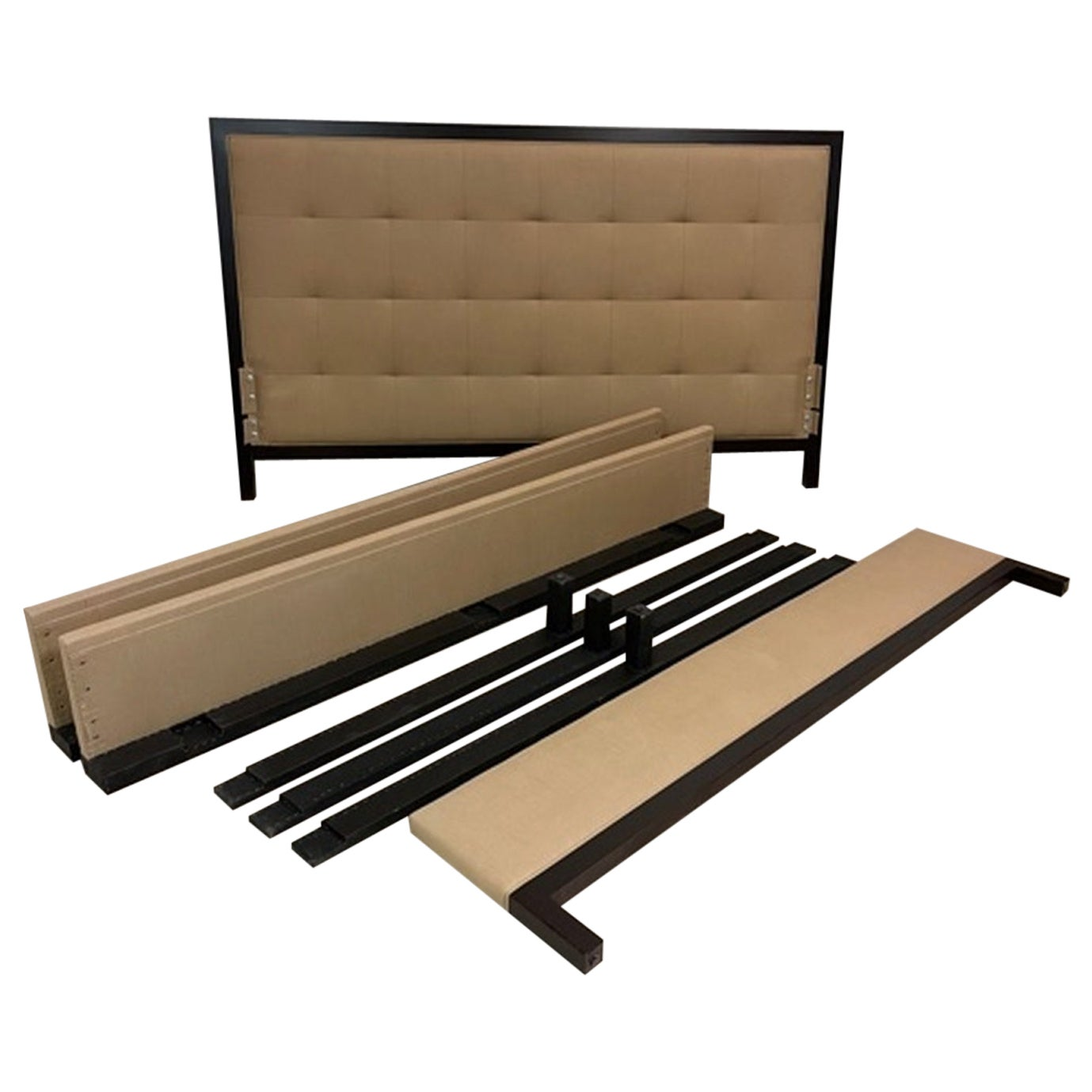 Baker Furniture Tufted Headboard King Bed Frame