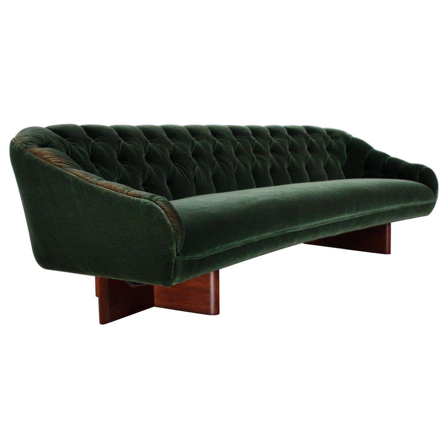 Custom Curved Sofa by Vladimir Kagan