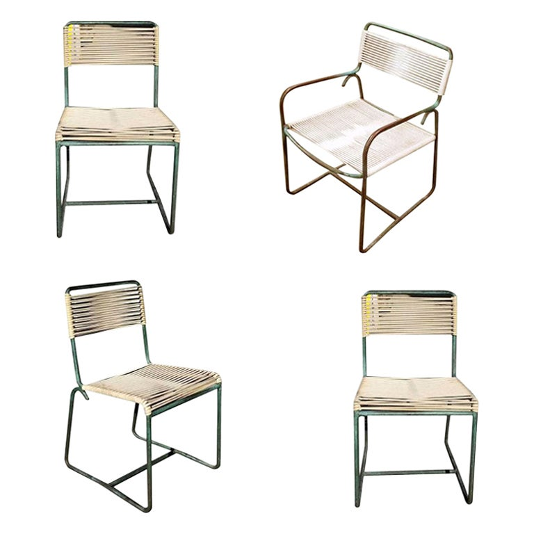 Walter Lamb Brown Jordan Outdoor Lounge Chairs Bronze Set of 4