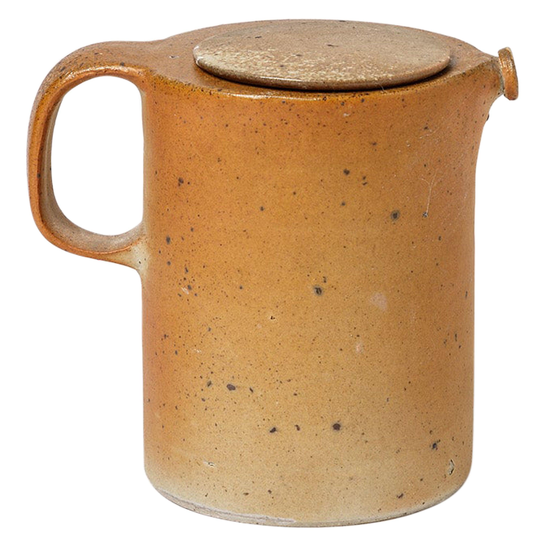 Brown Stoneware Ceramic Tea Pot La Borne 1970 20th Century Design Att. to Joulia