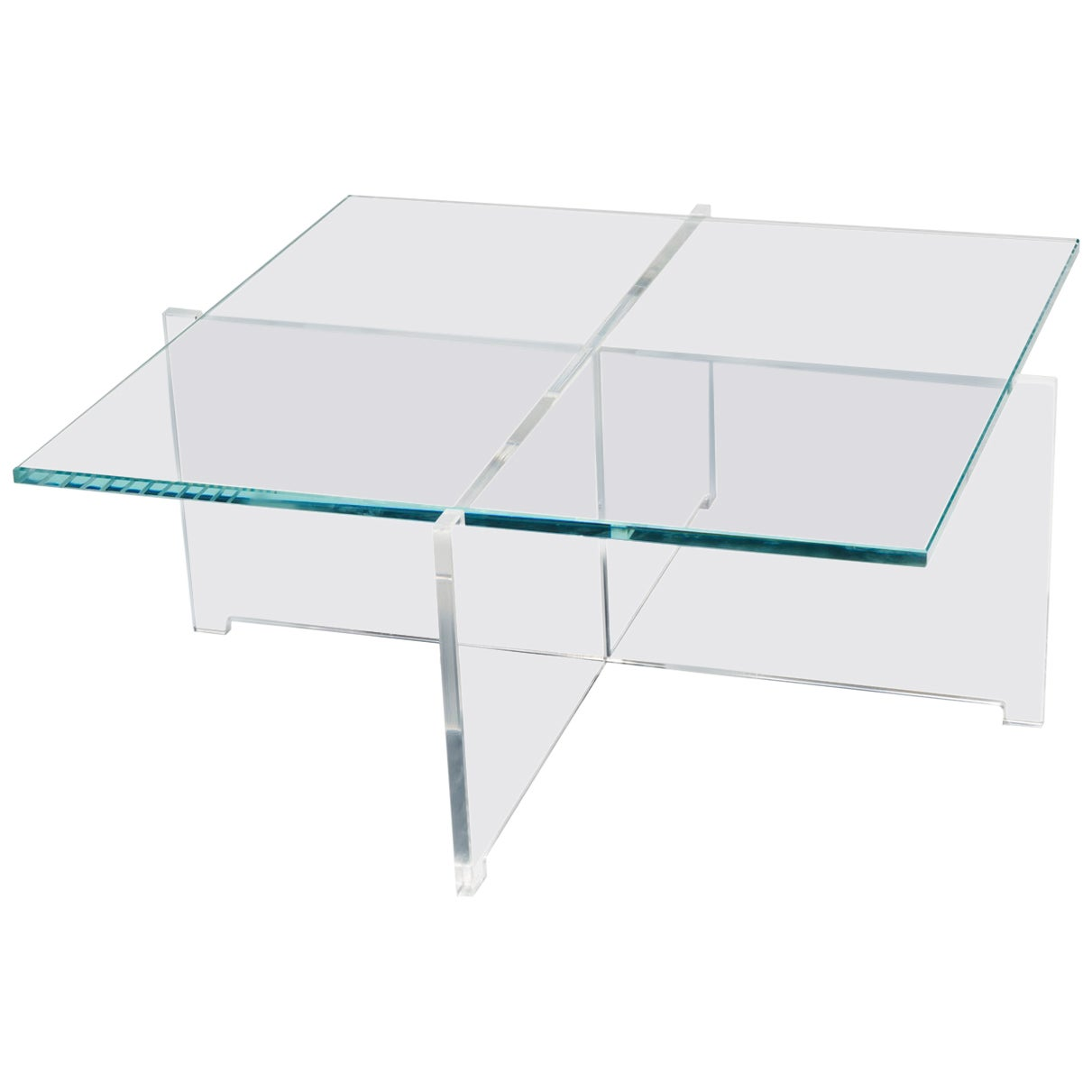Bodil Kjær 'Crossplex Low Table', Polycarbonate and Glass by Karakter