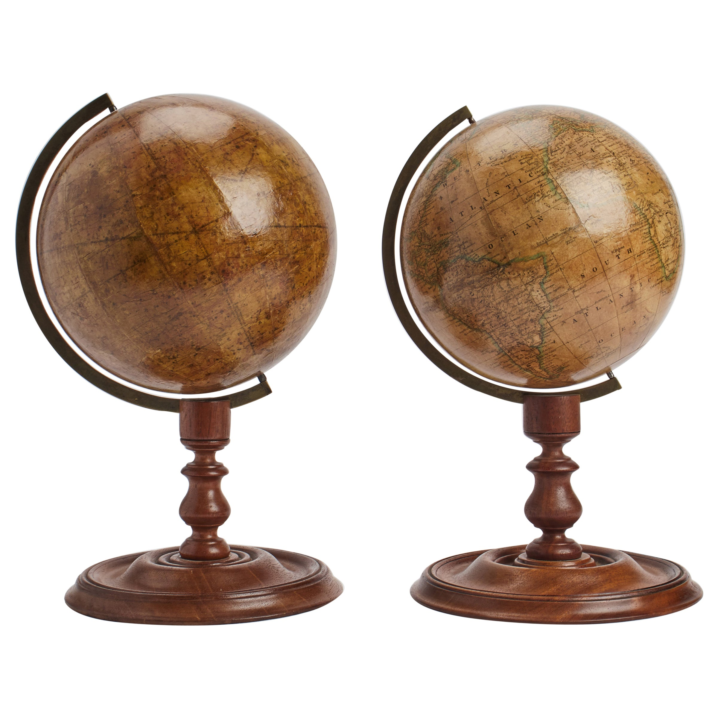 A Pair of Celestial and Terrestrial Globes, London, 1850