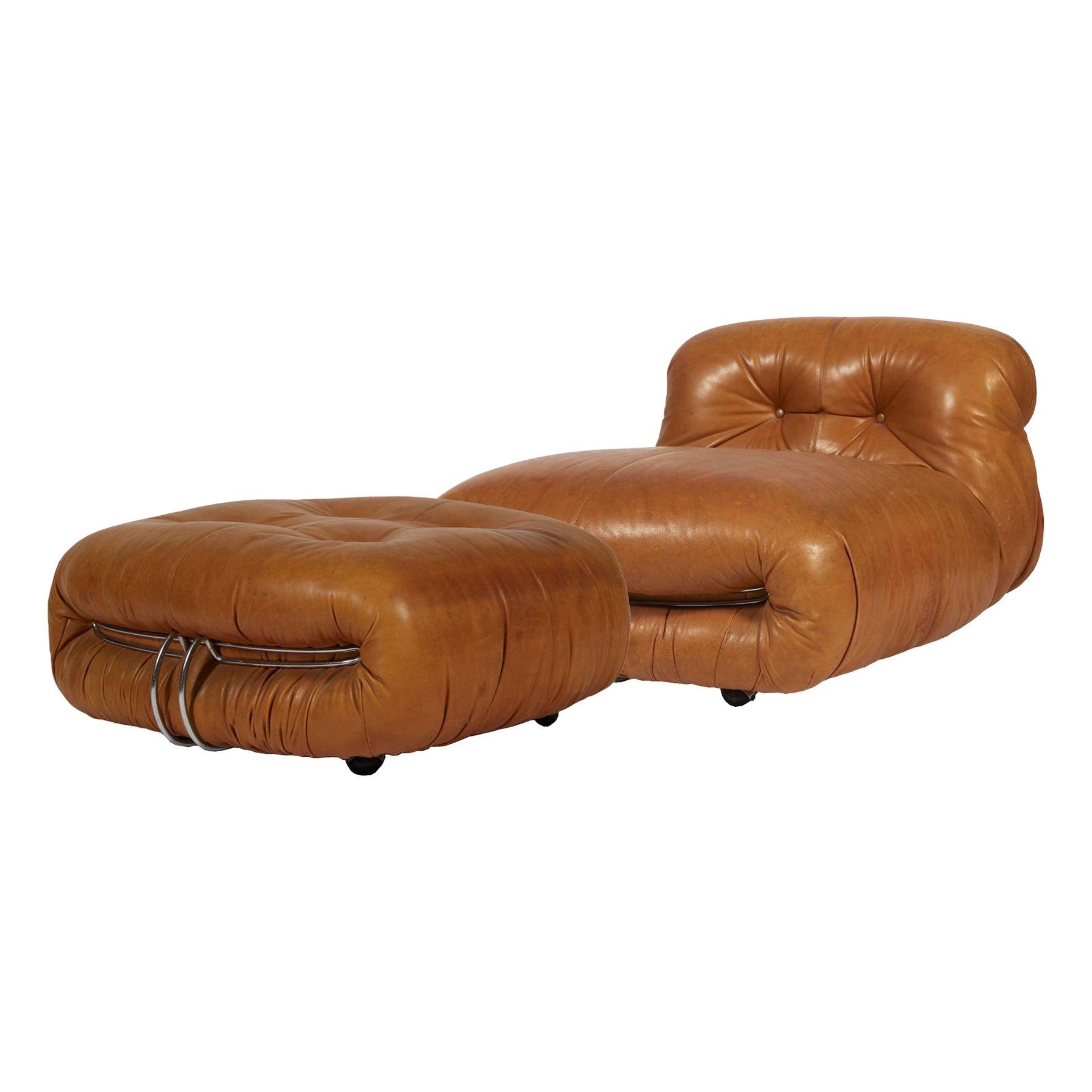 Afra & Tobia Scarpa, Soriana Lounge Chair and Ottoman, Cassina