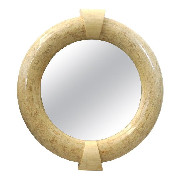 Enrique Garcel Mirror Tessellated Bone For Sale