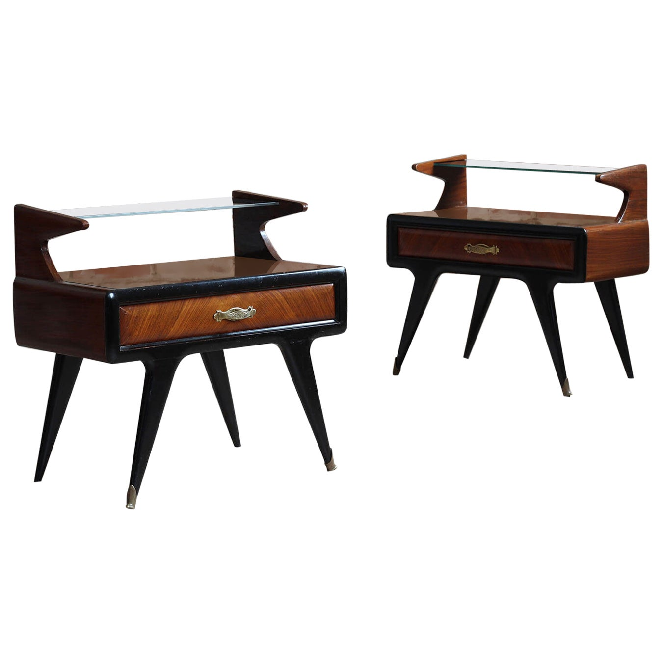 Pair of Italian Nightstands, Paolo Buffa Style, 1950s