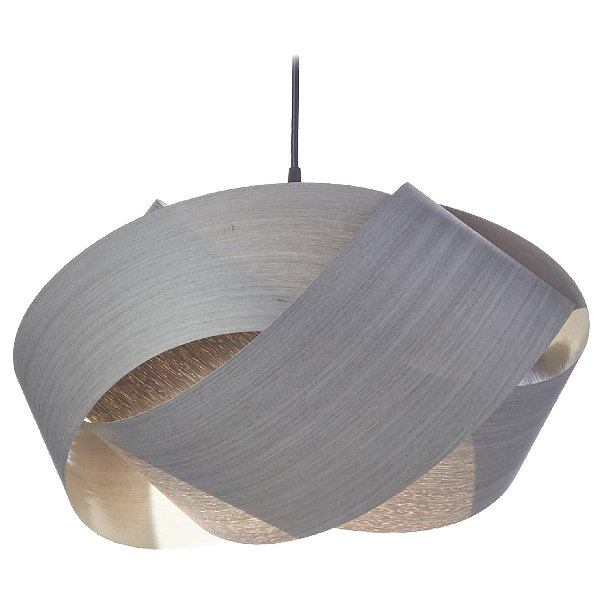 Mid-Century Modern Natural Wood Pendant