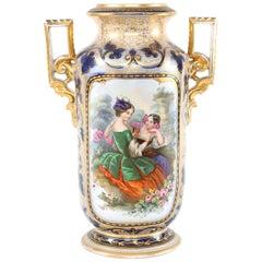 19th Century French Porcelain Decorative Vase / Piece