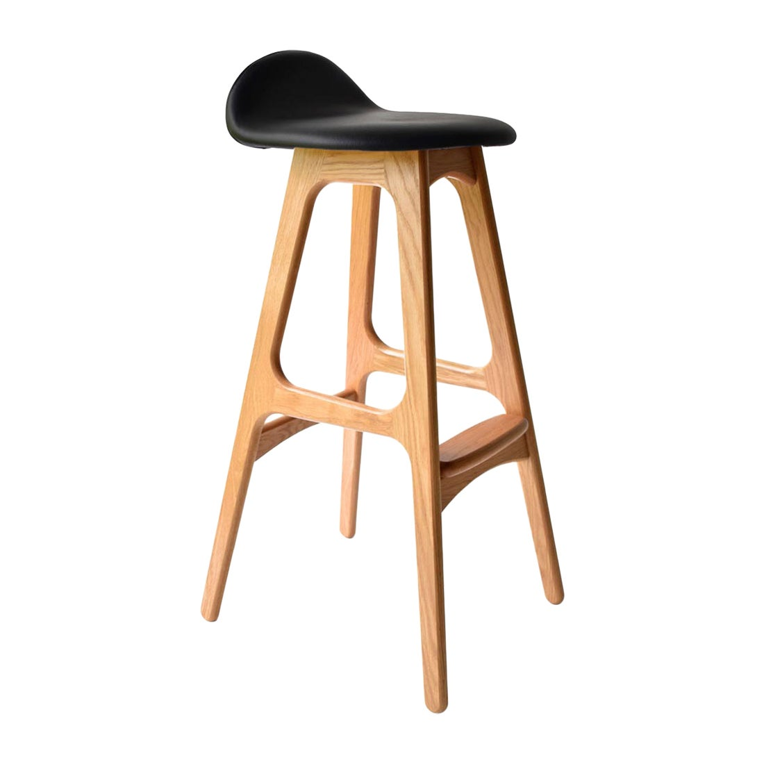 Erik Buch Model 61 Midcentury Counter Stool in Oak