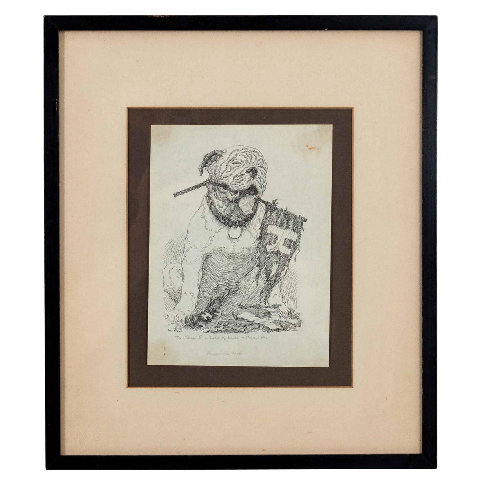 Framed Bulldog Print