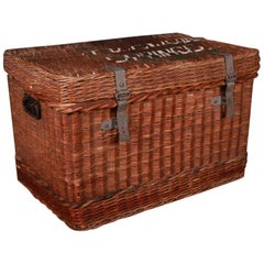 Large Edwardian Wicker Basket
