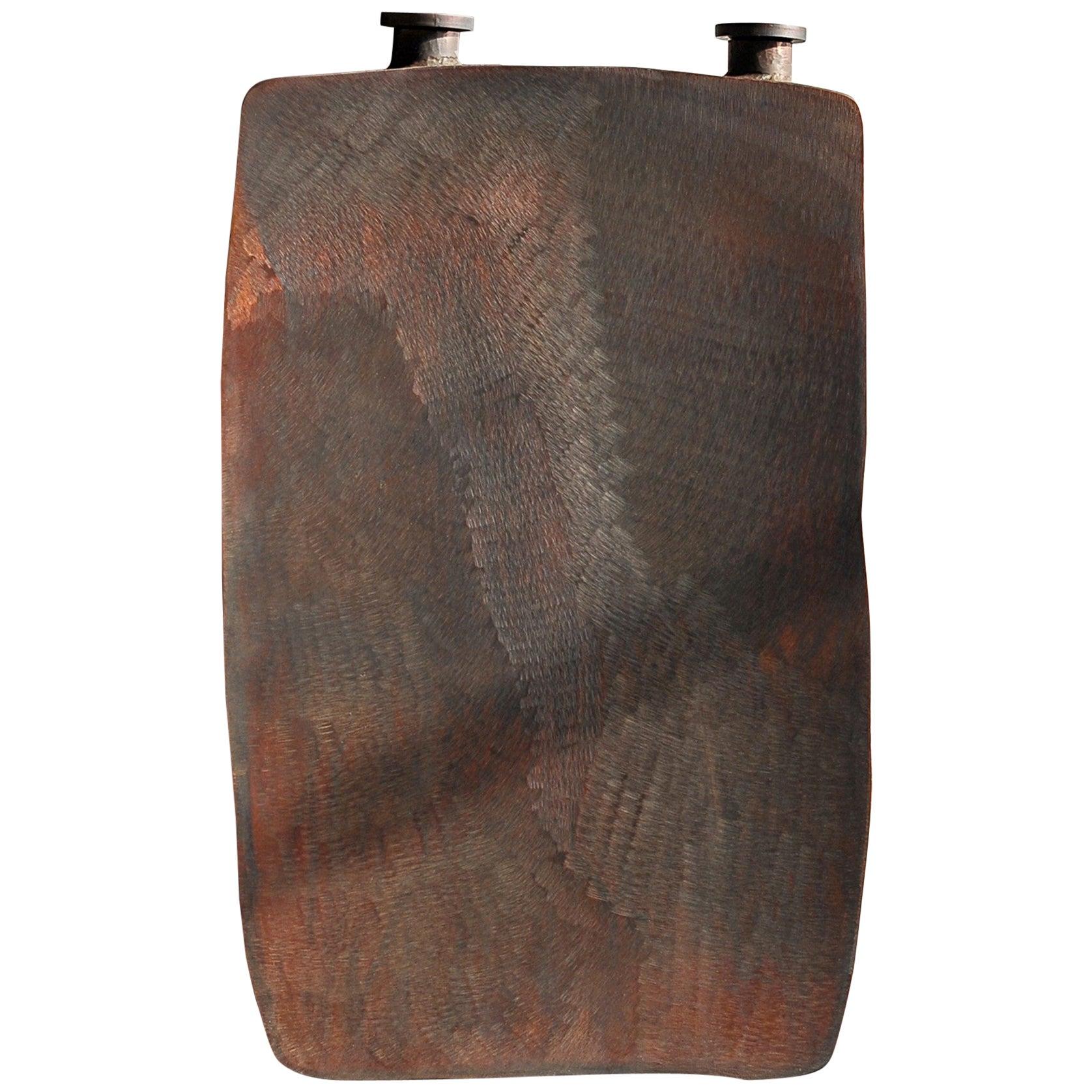 Medium Steel Brown Bottle by Lukasz Friedrich