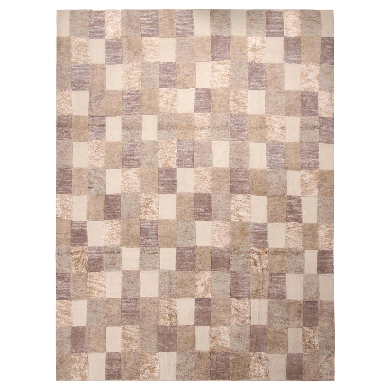 Rug & Kilim's Scandinavian-Inspired Beige Brown and Gray Wool Pile Rug