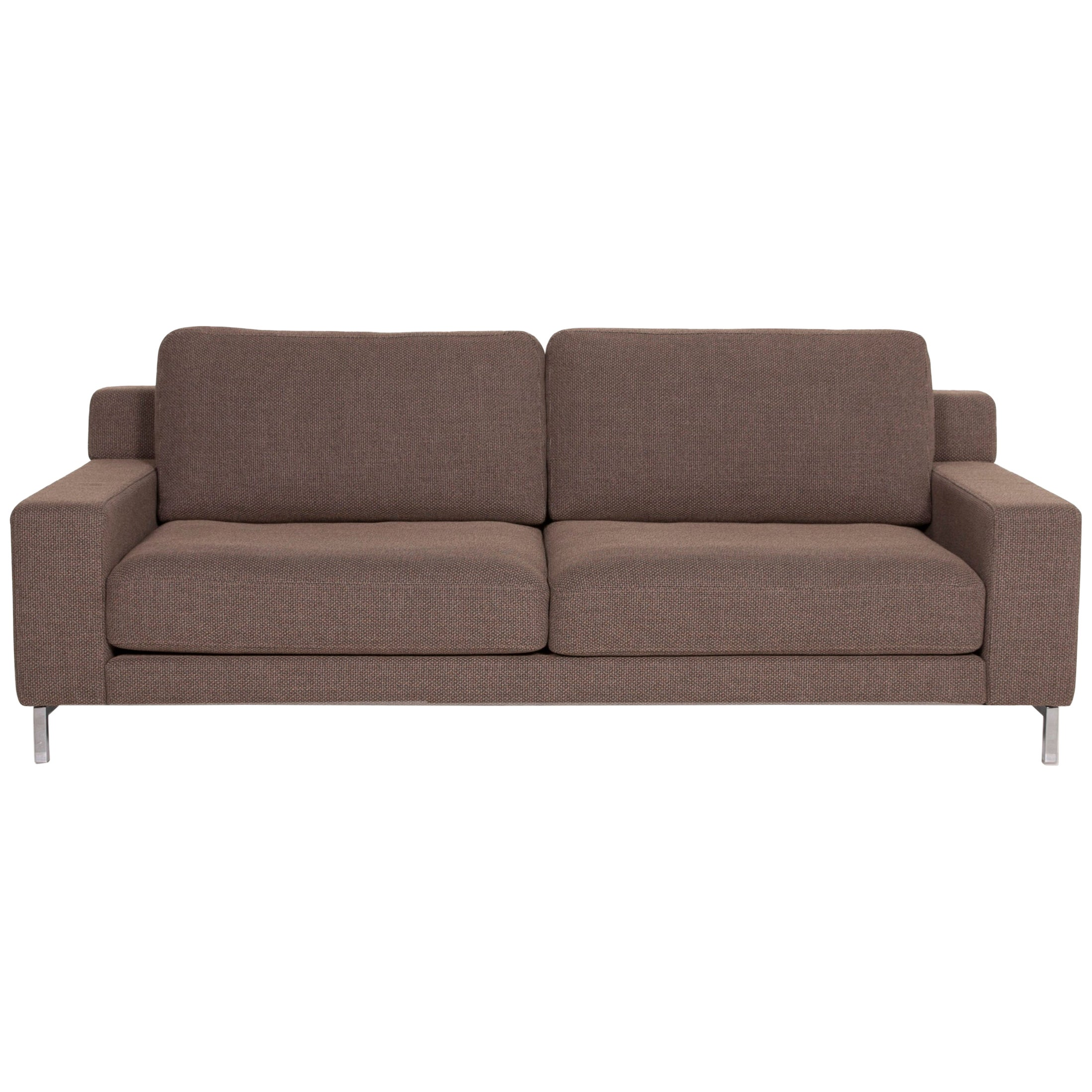 Rolf Benz Ego Fabric Sofa Brown Two-Seater