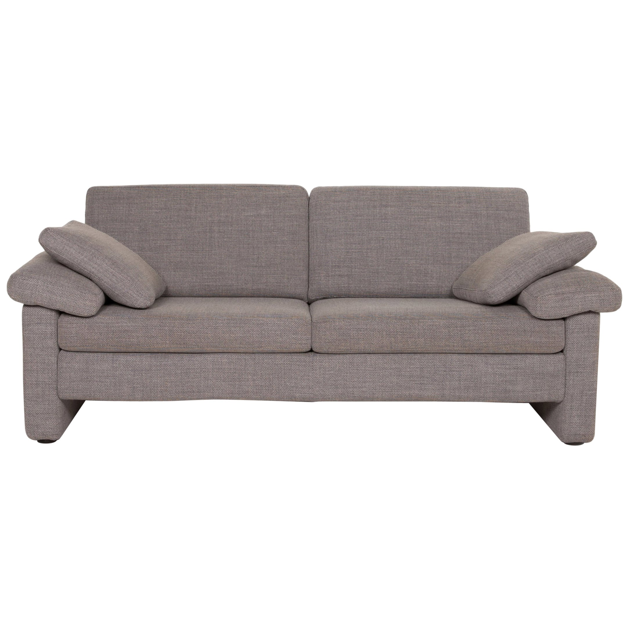 COR Conseta Fabric Sofa Gray Two-Seater Couch
