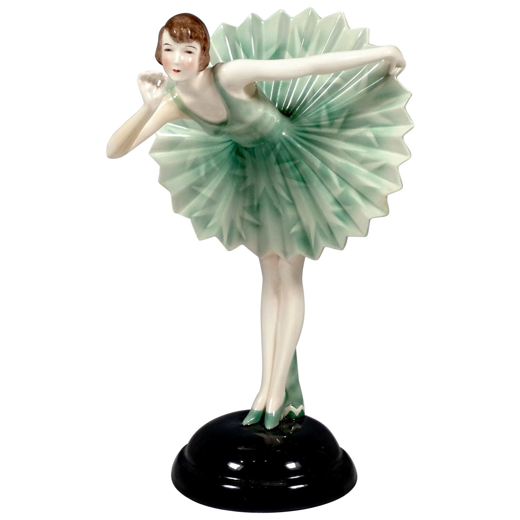 Goldscheider Vienna 'Viennese Waltz' Dancer in Star Costume, Stephan Dakon, 1930