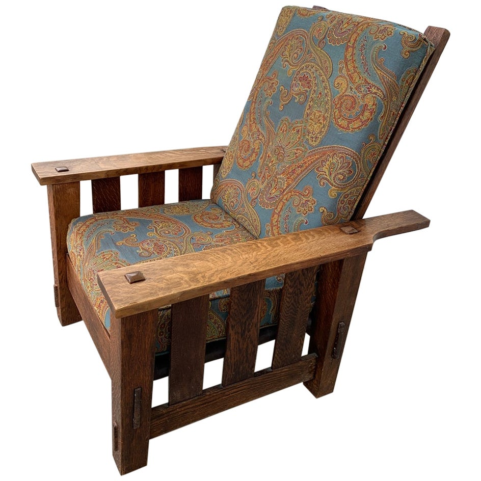 Plank Oak Chair by J. M. & Sons, Arts & Crafts Period