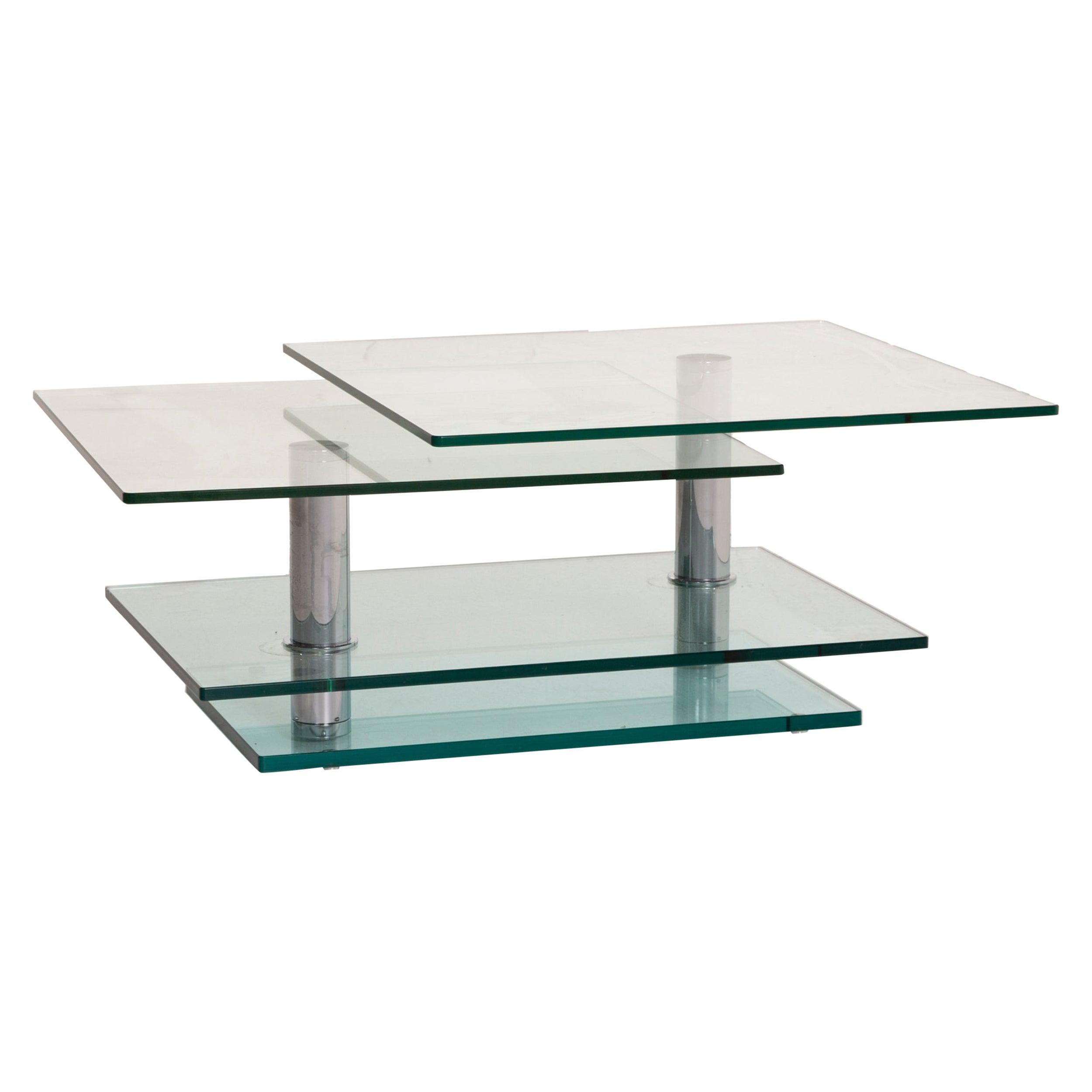 Ronald Schmitt K500 Glass Table Coffee Table Chrome Function