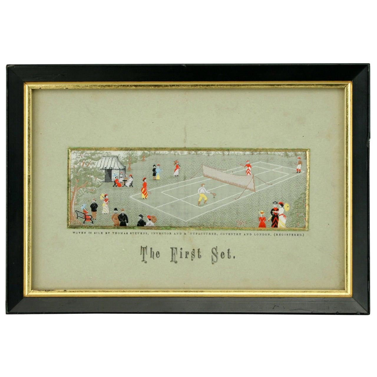 Stevengraph, a Tennis Match, the First Set