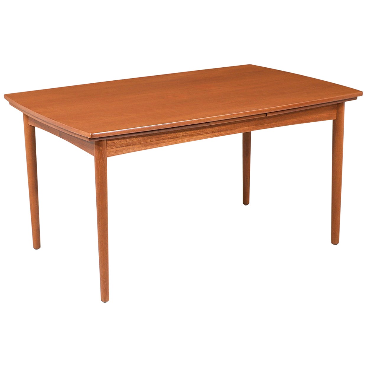 Danish Modern Expanding Draw-Leaf Teak Dining Table