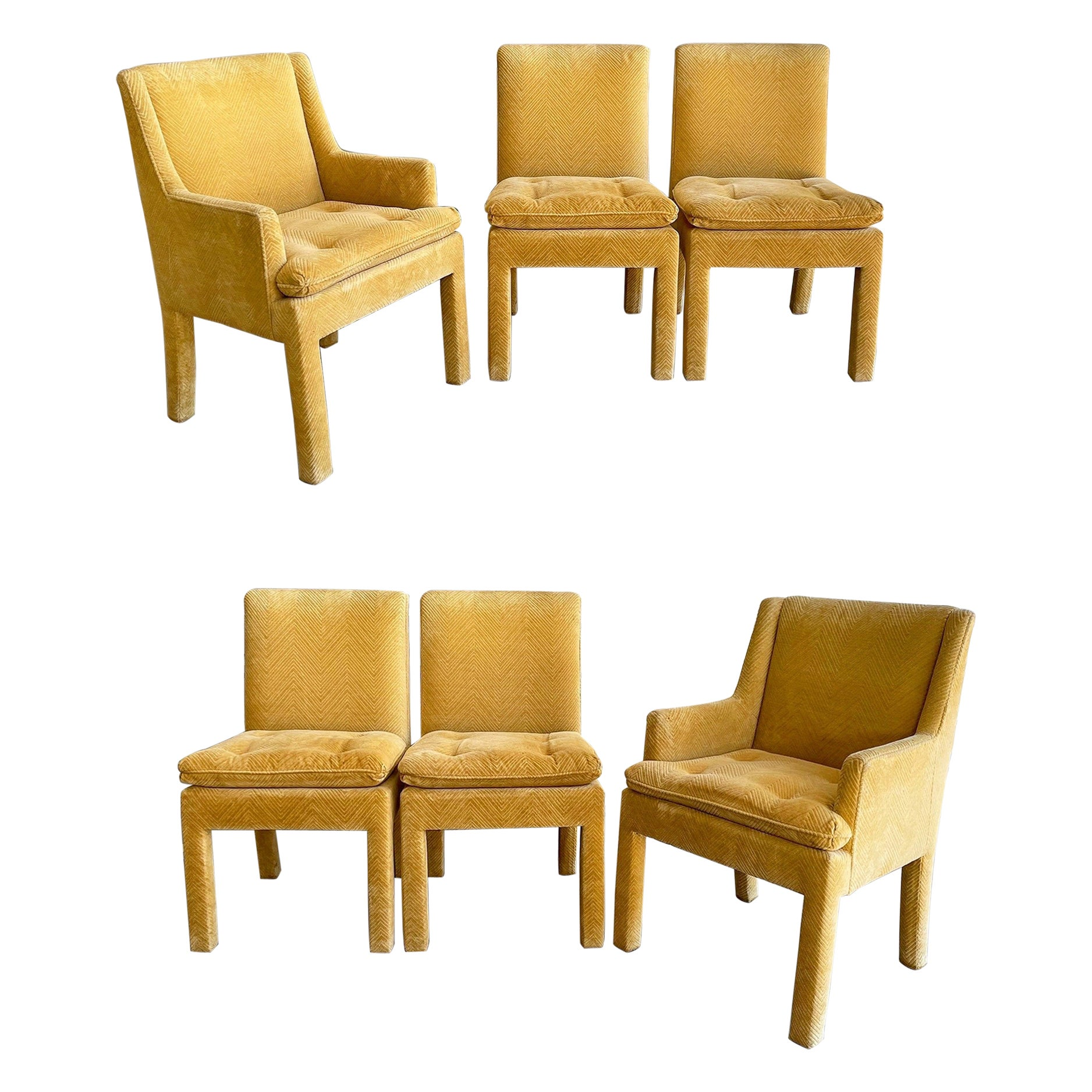 Midcentury Milo Baughman Parsons Dining Chairs for Thayer Coggin, Set of Six