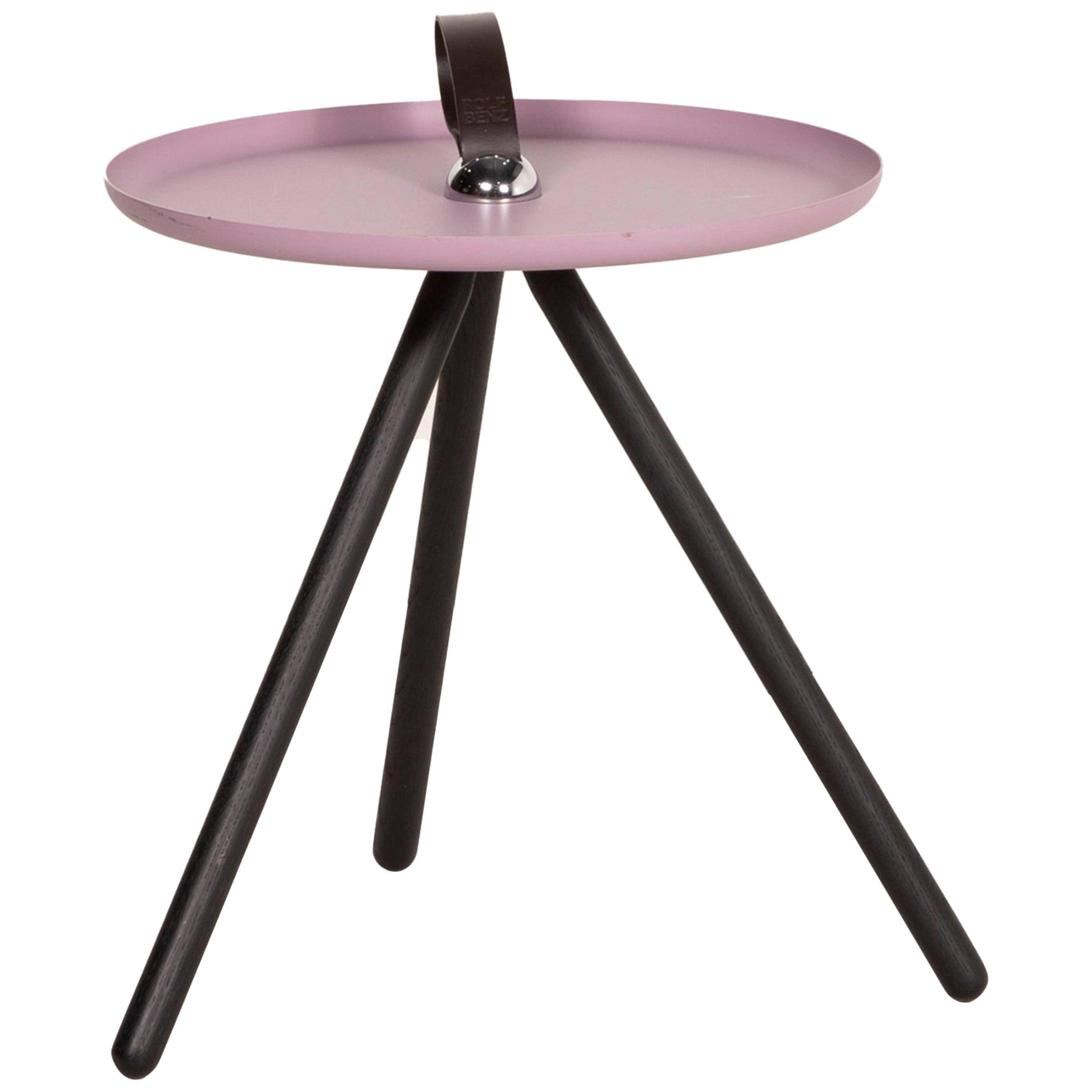 Rolf Benz 973 Metal Table Pink Coffee Table Side Table Walnut Sheet Steel Wood