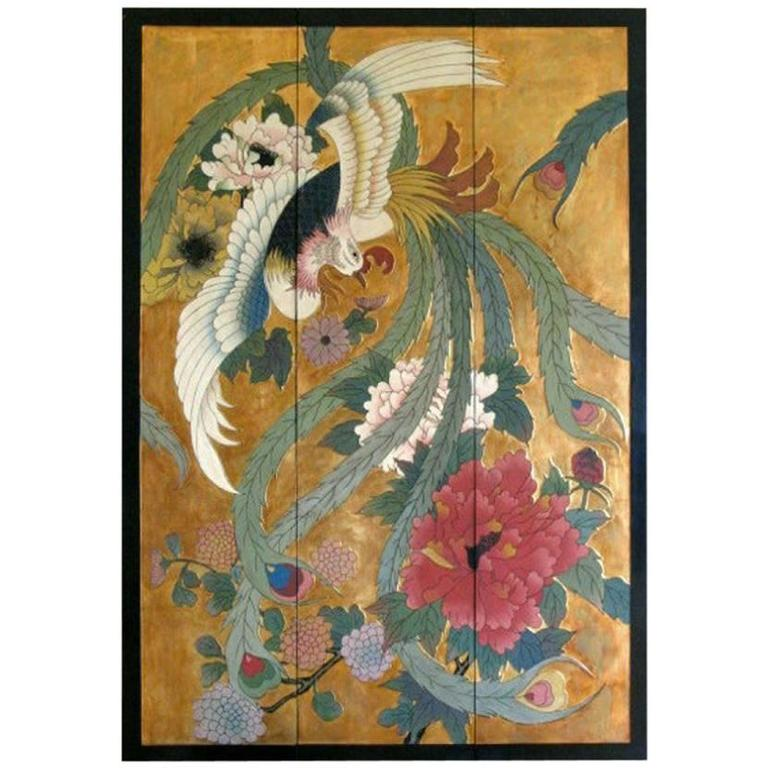 Large Botanical Panel For Sale