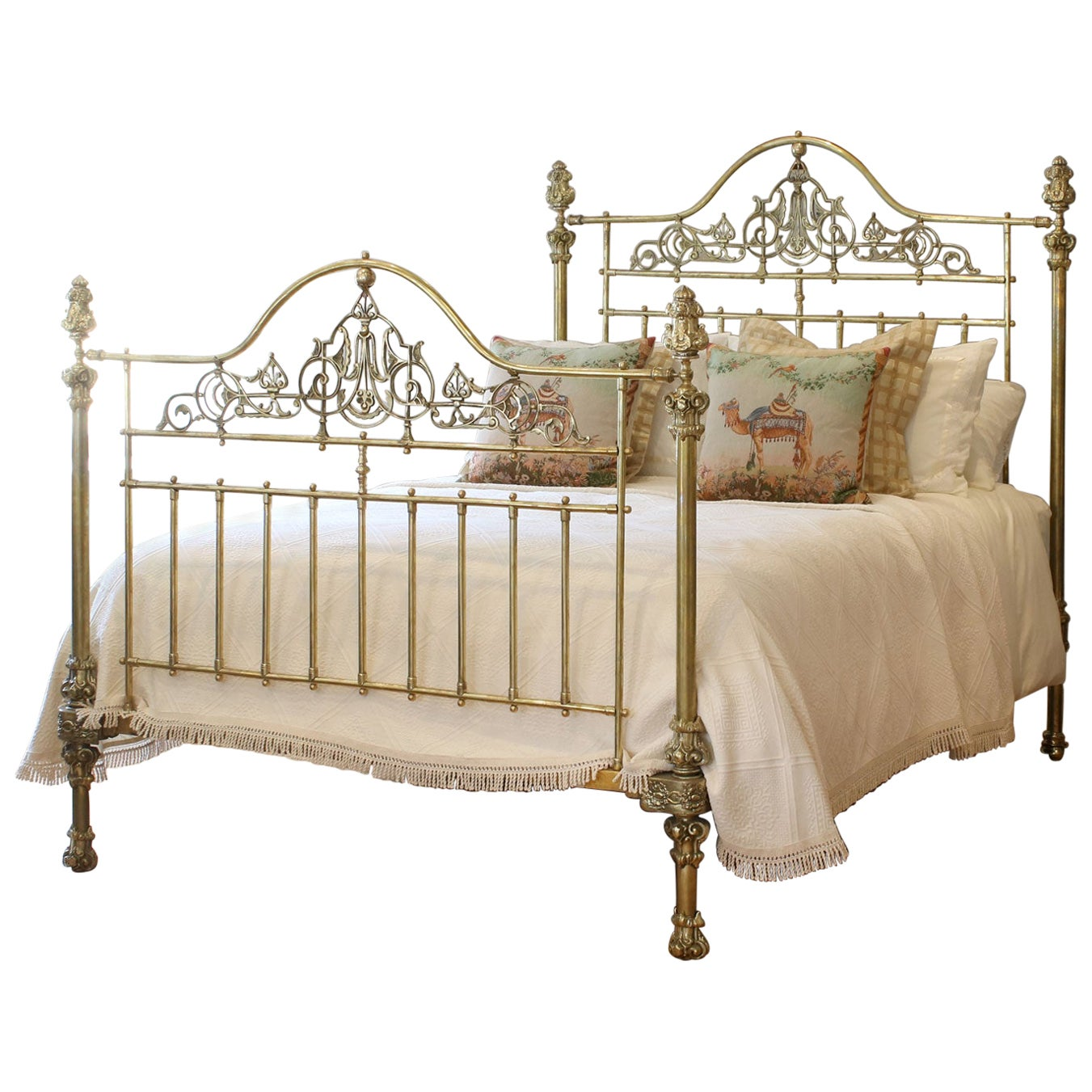 Ornate All Brass Antique Bed MK225