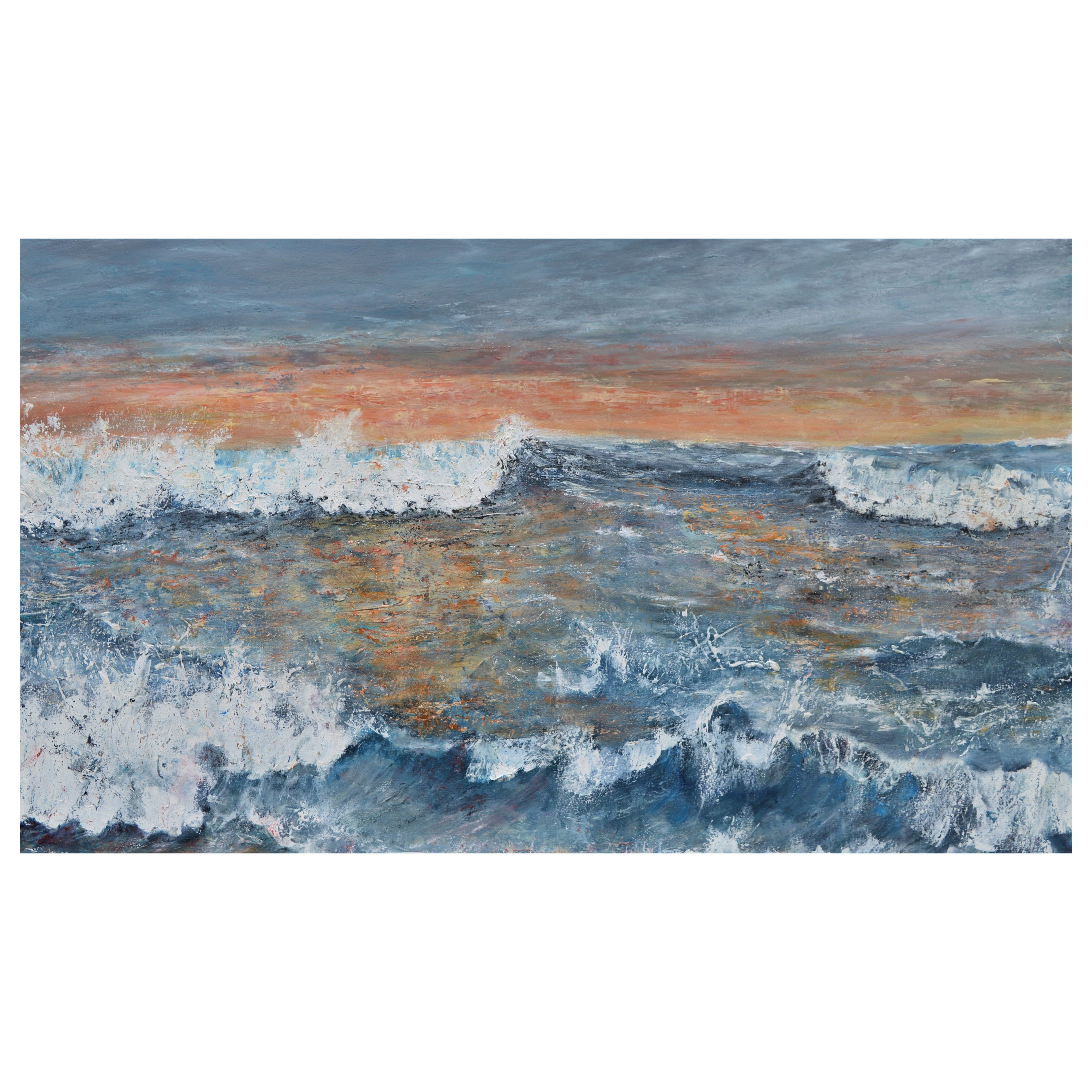 Western Promise: A Good Day Beckons, Large Contemporary Seascape Oil Painting