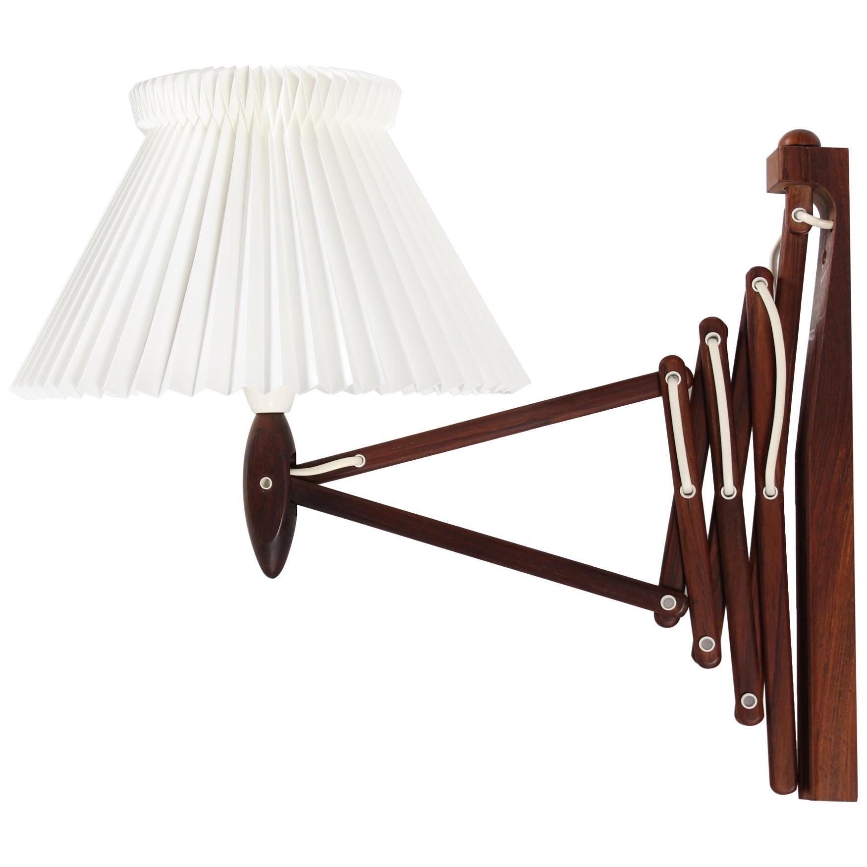 Le Klint Wall Lamp of Rosewood 234 by Erik Hansen Original Le Klint Lamp Shade