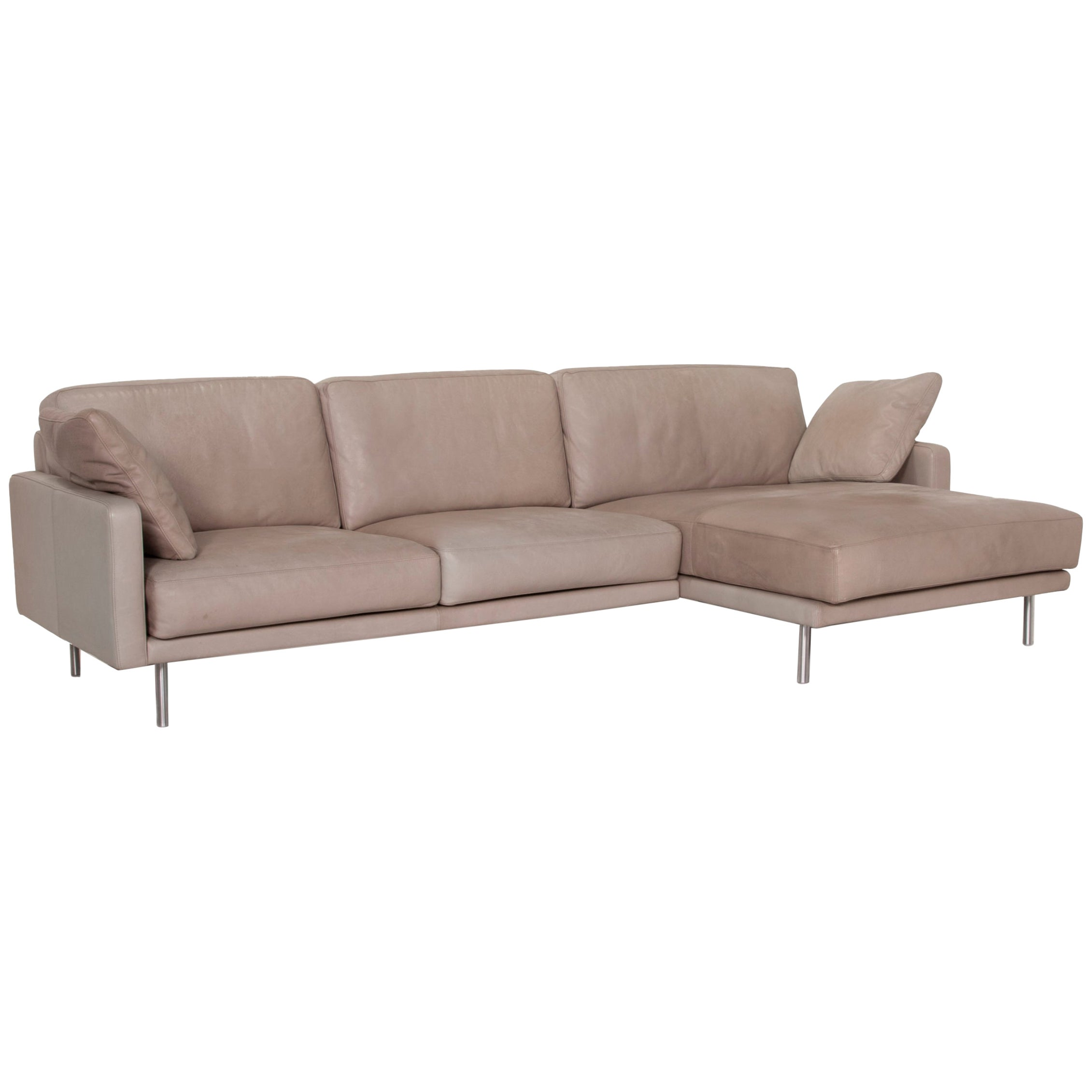 Violetta Leather Sofa Cognac Corner Sofa