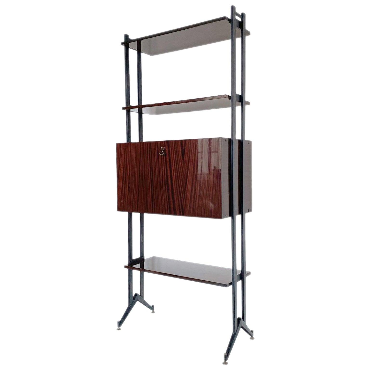 Modular Bookshelf in Mahogany Veneer