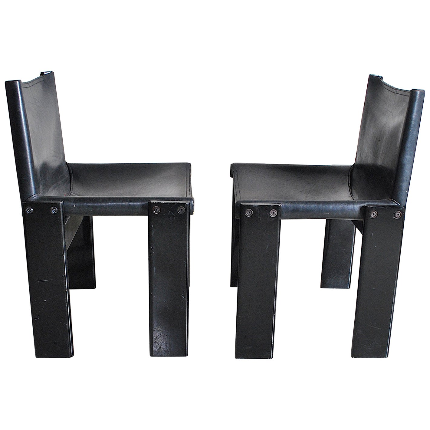 Afra & Tobia Scarpa Italian Mid Century Chairs 70's