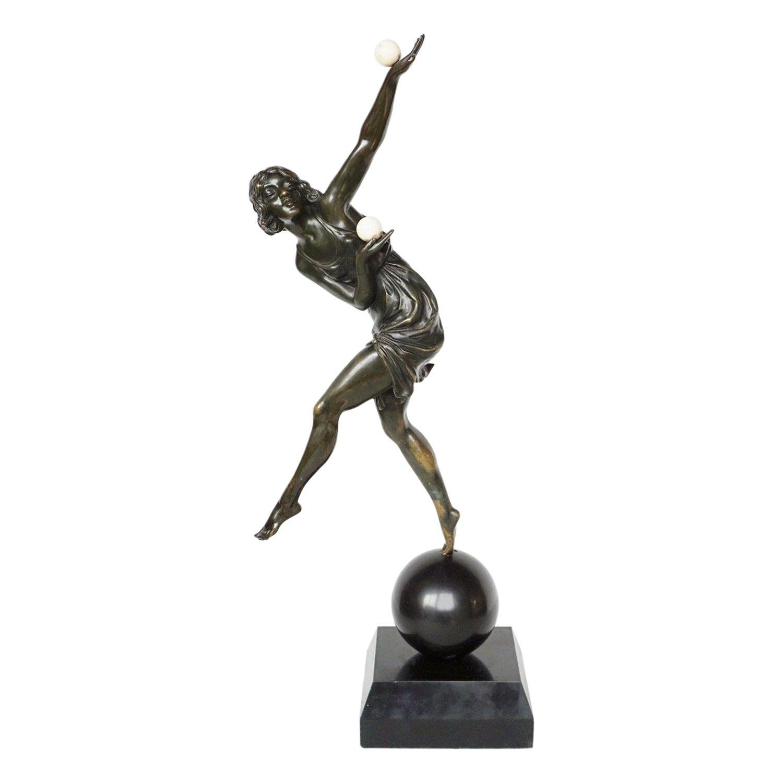 Balancing Act II an Art Deco Bronze Sculpture by Marcel Bouraine