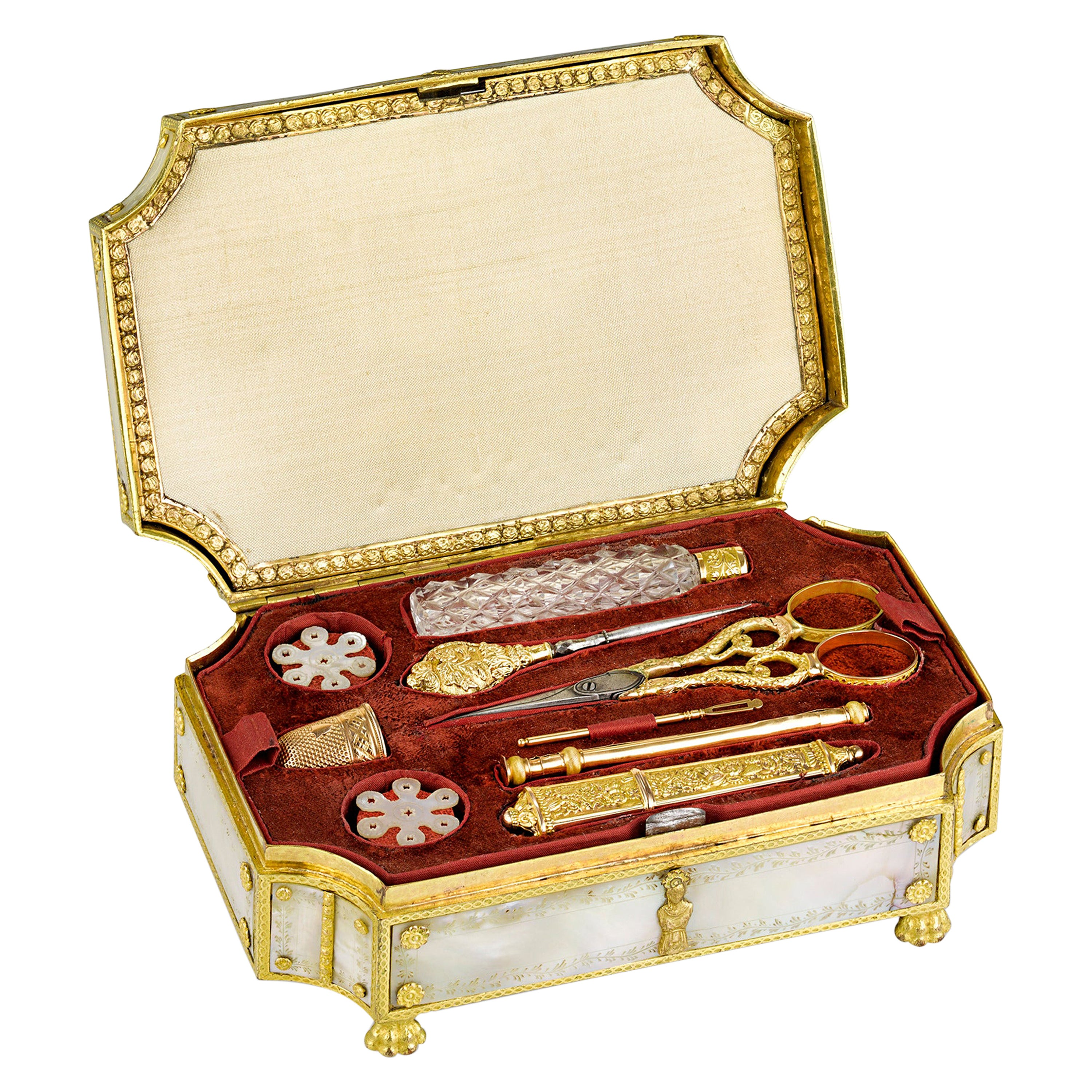 Palais Royal Mother-of-Pearl Sewing Box