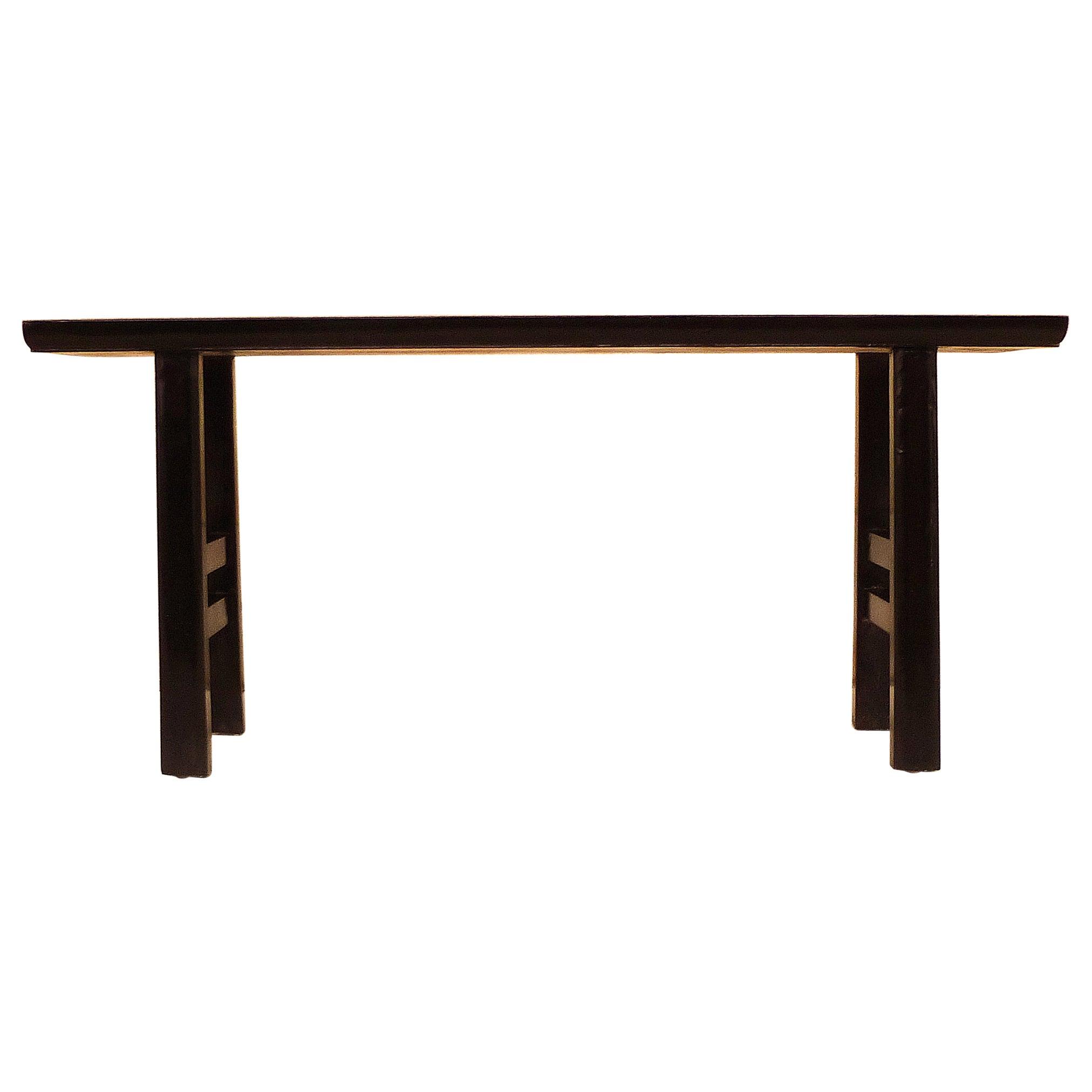 Fine Black Lacquer Bench