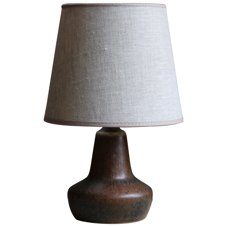 Gunnar Nylund, Small Table Lamp, Glazed Stoneware, Rörstand, Sweden, 1950s