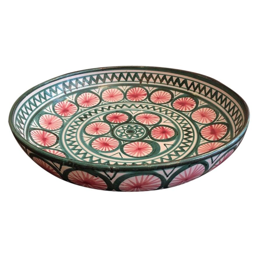 Robert Picault Large Ceramic Dish from Vallauris, France, ca. 1950s