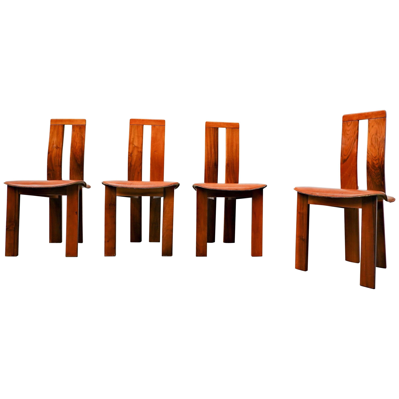 Set of 4 Italian Chairs, 1950s