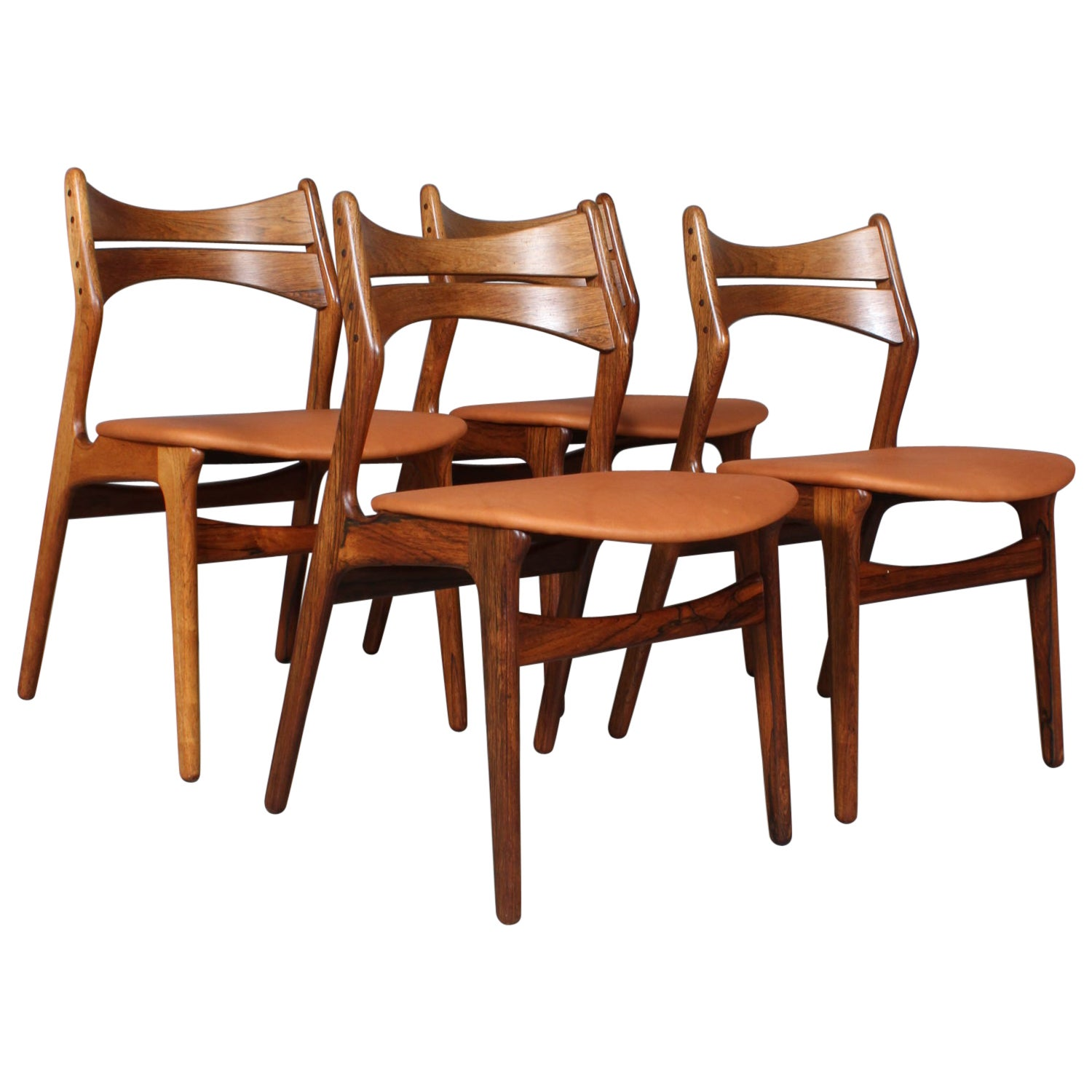 Set of Four Erik Buch Chairs