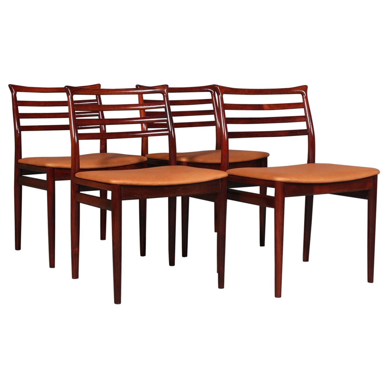 Erling Torvits, Set of Six Dining Chairs
