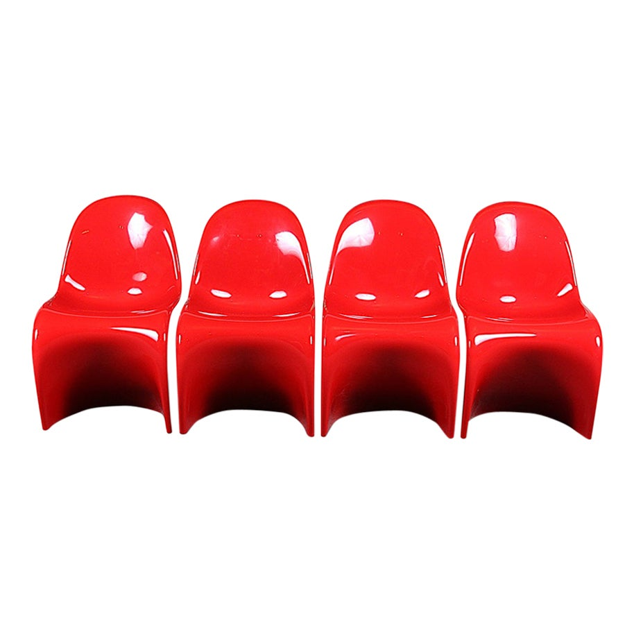 Set of Four Verner Panton Designed Chairs